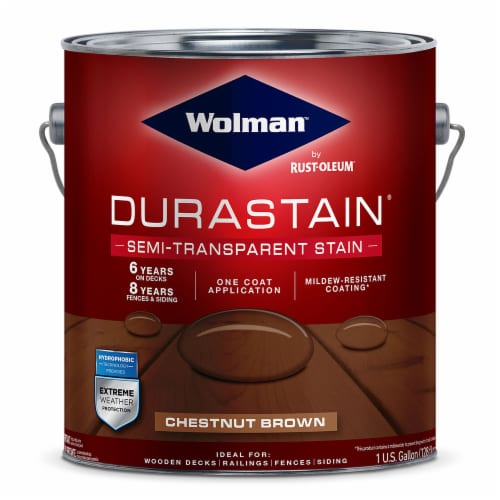 Wolman 288081 Durastain One Coat Semi-Transparent Exterior Wood Stain Chestnut Brown gal Perspective: front