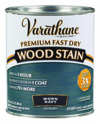Varathane® Worn Navy Oil-Based Wood Stain Perspective: front