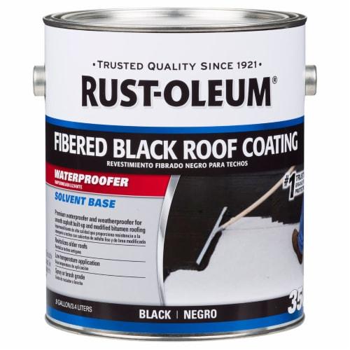 Rust-Oleum 301909 350 Fibered Black Roof Coating gal Perspective: front