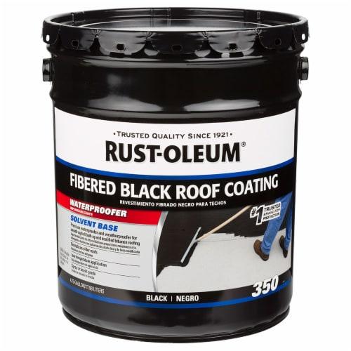 Rust-Oleum 301999 350 Fibered Black Roof Coating 5 gal Perspective: front