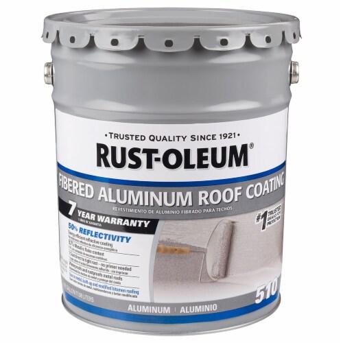 Rust-Oleum 301997 510 Fibered Aluminum Roof Coating 5 gal Perspective: front