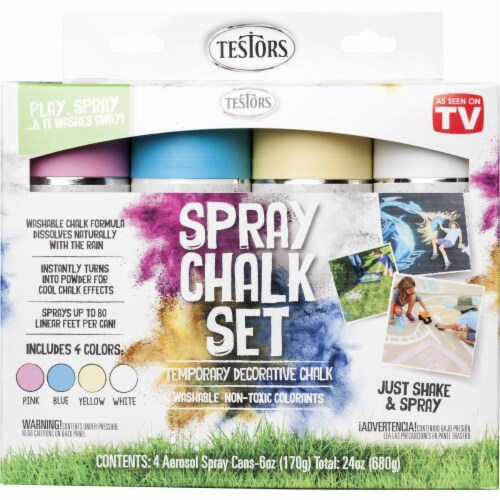 Testors Spray Chalk Set - Assorted Perspective: front
