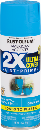Rust-Oleum American Accents 2X Ultra Cover Satin Spray Paint - Oasis Blue Perspective: front