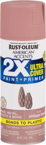 Rust-Oleum American Accents 2X Ultra Cover Satin Spray Paint - Vintage Blush Perspective: front