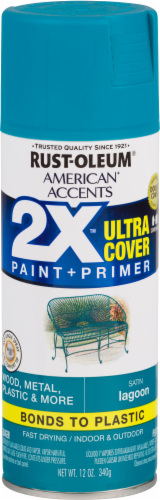 Rust-Oleum American Accents 2X Ultra Cover Satin Spray Paint - Lagoon Perspective: front