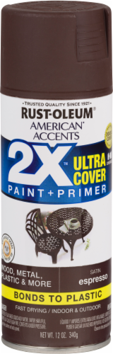 Rust-Oleum American Accents 2X Ultra Cover Satin Spray Paint - Espresso Perspective: front