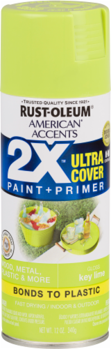 Rust-Oleum American Accents 2X Ultra Cover Gloss Spray Paint - Key Lime Perspective: front