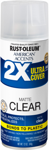 Rust-Oleum American Accents 2X Ultra Cover Matte Spray - Clear Perspective: front