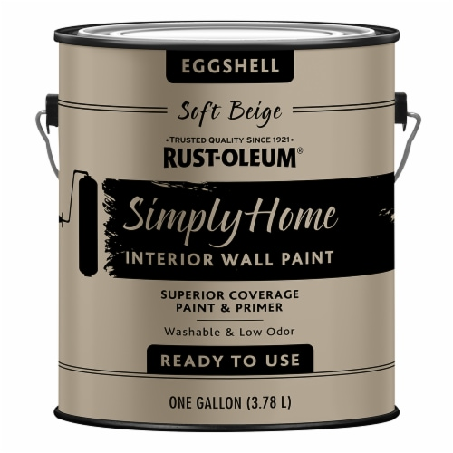 Rust-Oleum® Simply Home Soft Beige Eggshell Interior Wall Paint Perspective: front