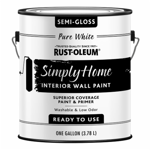 Rust-Oleum® Simply Home Semi-Gloss Interior Wall Paint - Pure White Perspective: front
