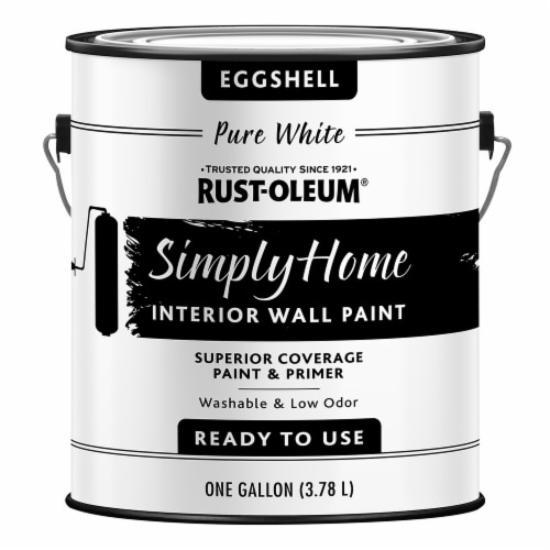Rust-Oleum® Simply Home Eggshell Interior Wall Paint - Pure White Perspective: front