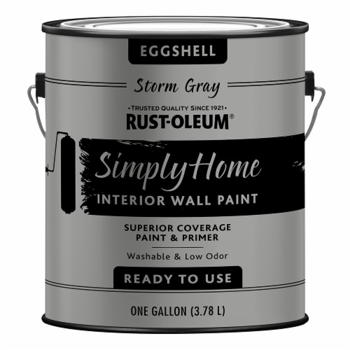 Rust-Oleum® Simply Home Storm Gray Eggshell Interior Wall Paint Perspective: front