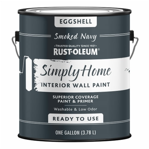 Rust-Oleum® Simply Home Eggshell Interior Wall Paint - Smoked Navy Perspective: front