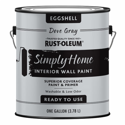 Rust-Oleum® Simply Home Eggshell Interior Wall Paint - Dove Gray Perspective: front