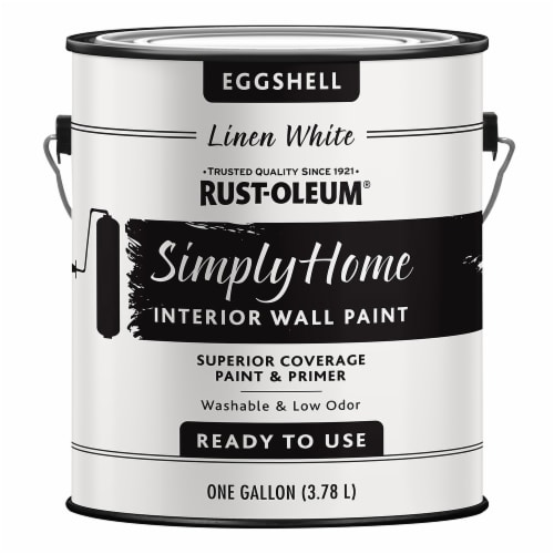 Rust-Oleum® Simply Home Linen White Eggshell Interior Wall Paint Perspective: front