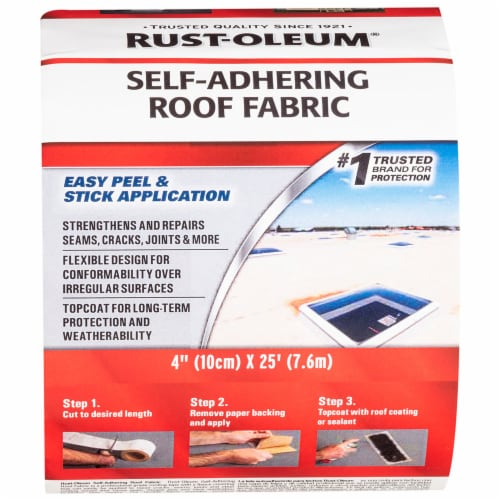Rust-Oleum 345651 Self Adhering Roof Fabric 4  X 25' Roll Perspective: front