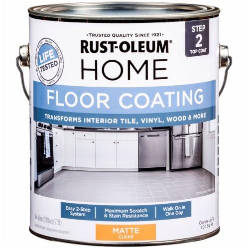 Rust-Oleum 358585 Floor Coating Top Coat Matte CLEAR Gal Perspective: front