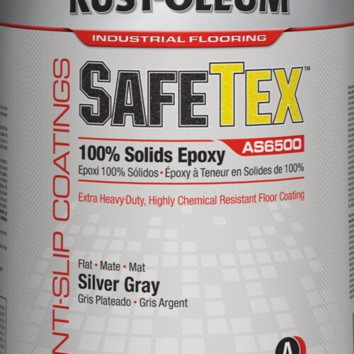 Rust-Oleum AS6500 Anti-Slip Epoxy Kit, Silver Gray HAWA AS6582425 Perspective: front