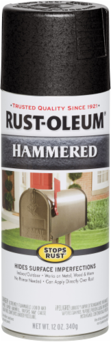 Rust-Oleum Stops Rust® Hammered Spray Paint - Black Perspective: front