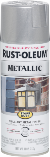 Rust-Oleum® Stops Rust® Silver Metallic Spray Paint Perspective: front