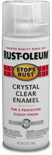 Rust-Oleum® Stops Rust® Crystal Clear Enamel Spray Paint Perspective: front