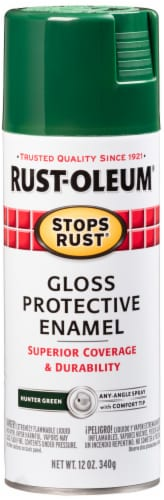 Rust-Oleum Gloss Protective Enamel Spray - Hunter Green Perspective: front