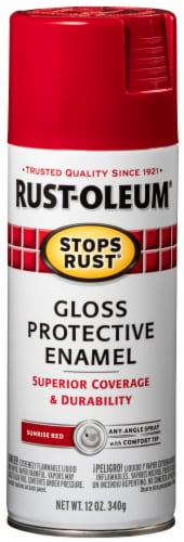 Rust-Oleum® Sunrise Red Gloss Protective Enamel Spray Perspective: front