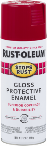 Rust-Oleum® Stops Rust® Regal Red Protective Enamel Gloss Spray Paint Perspective: front