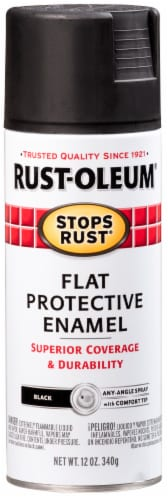 Rust-Oleum Flat Protective Enamel - Black Perspective: front