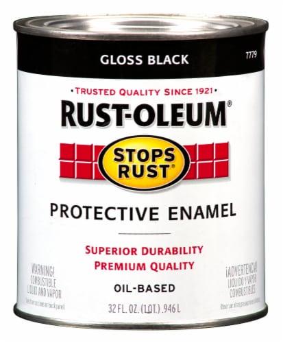 Rust-Oleum Gloss Black Protective Enamel Perspective: front