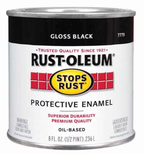 Rust-Oleum® Stops Rust® Gloss Black Protective Enamel Oil-Based Paint Perspective: front