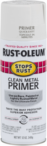 Rust-Oleum Stops Rust® Clean Metal Primer Spray Paint - White Perspective: front