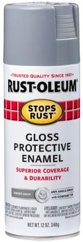 Rust-Oleum Gloss Protective Enamel Spray - Smoke Gray Perspective: front