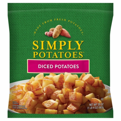 Simply Potatoes Diced Potatoes Perspective: front
