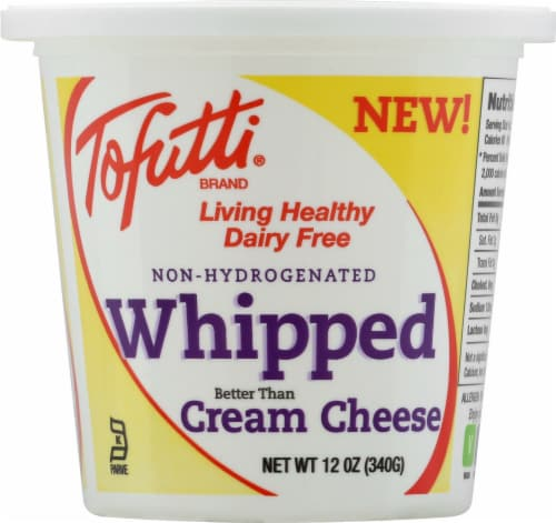Tofutti Non-Hydrogenated Whipped Dairy Free Cream Cheese Perspective: front