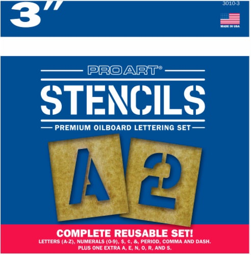 Pro Art Letters and Numbers Stencil Kit Perspective: front