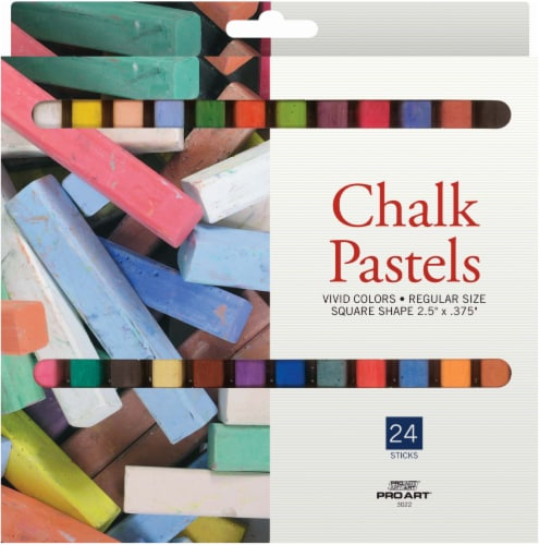 Pro Art Chalk Pastels - 24 Pack Perspective: front