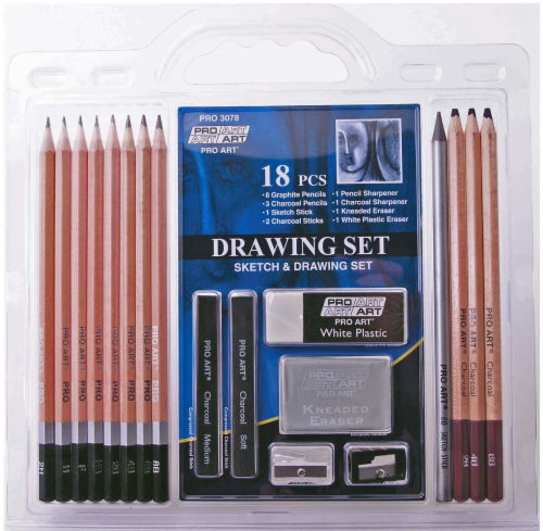 Pro Art Sketch and Draw Pencil Kit Perspective: front
