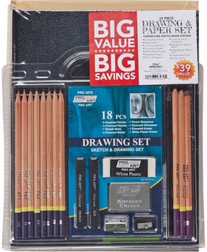 Pro Art 22-Piece Drawing and Paper Set Perspective: front