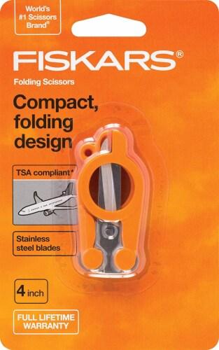 Fiskars® Folding Scissors - Orange Perspective: front