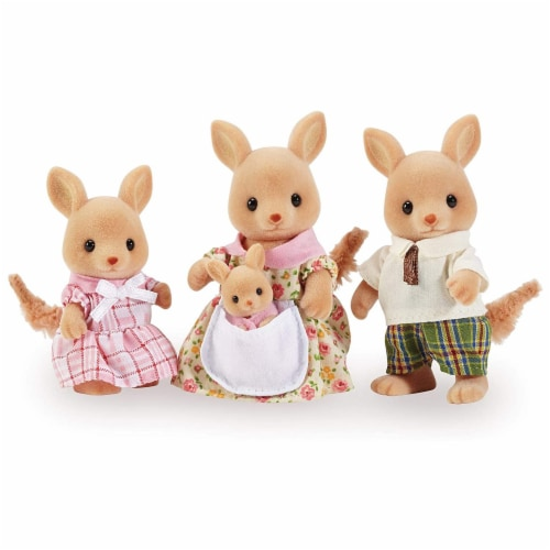 Calico Critters Hopper Kangaroo Family Perspective: front