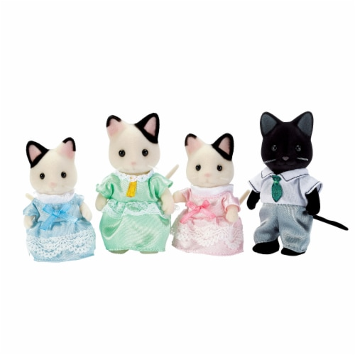 Calico Critters Tuxedo Cat Family Perspective: front
