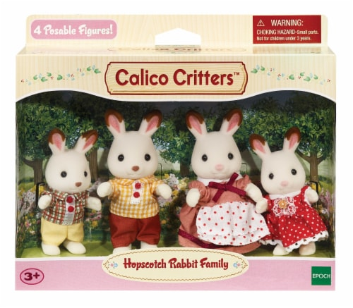Calico Critters Hopscotch Rabbit Family Perspective: front