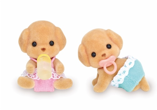 Calico Critters Toy Poodle Twins Set Perspective: front