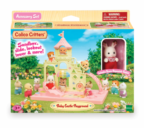 Calico Critters Baby Castle Playground Play Set Perspective: front