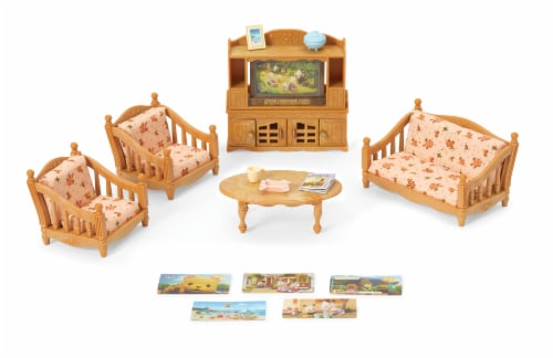 Calico Critters Comfy Living Room Set Perspective: front