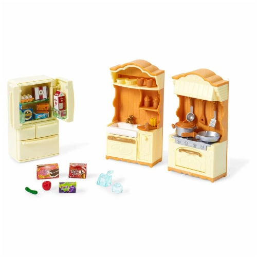 Epoch Calico Critters Kitchen Play Set Perspective: front