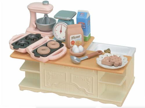 Calico Critters Kitchen Island Playset Perspective: front