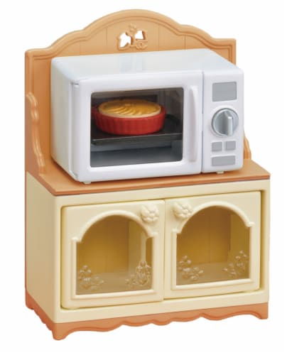 Calico Critters Microwave Cabinet Set Perspective: front