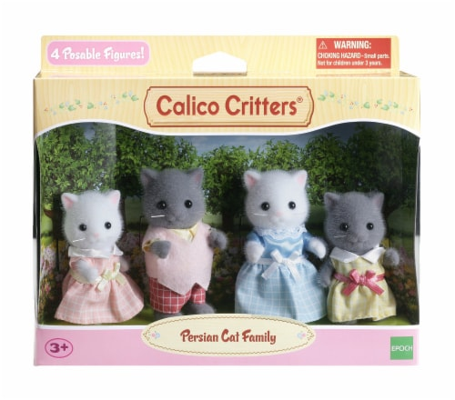 Calico Critters Persian Cat Family Perspective: front